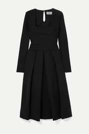 Gina pleated cady dress