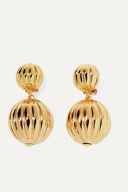 Charming gold-plated clip earrings