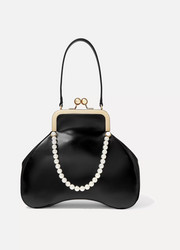 Baby Bean faux pearl-embellished leather tote