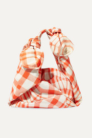 Baby Wrap checked taffeta shoulder bag