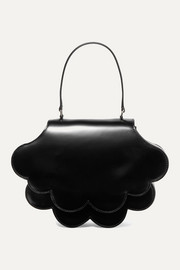 Simone Rocha Flower Bean glossed-leather tote