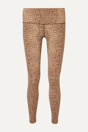 Estrella leopard-print stretch leggings