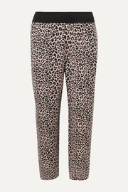 Catherine cropped leopard-print stretch modal and cotton-blend track pants
