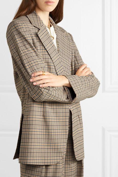 Mirella oversized checked woven blazer