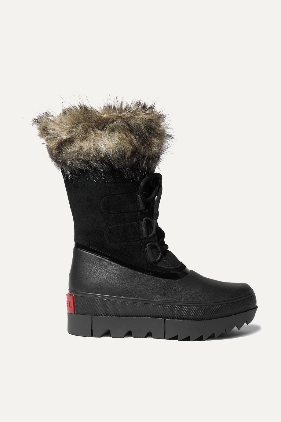 SOREL Joan of Arctic faux fur-trimmed waterproof suede and rubber boots
