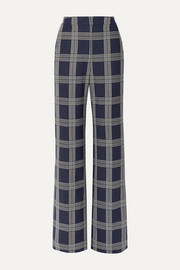 Lela Rose Checked woven wide-leg pants