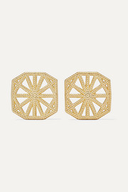 Petite Lace Deco gold earrings