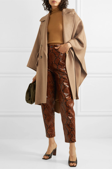 Max Mara | Eureka double-breasted camel hair cape | NET-A