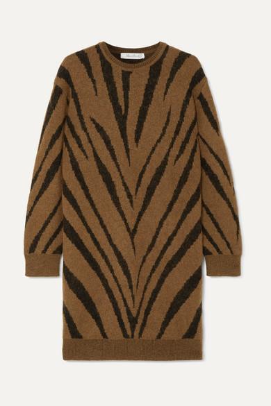 Max Mara Dresses Austin zebra intarsia-knit mini dress