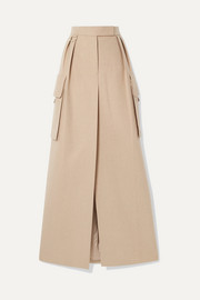 Duente wool and cashmere-blend maxi skirt