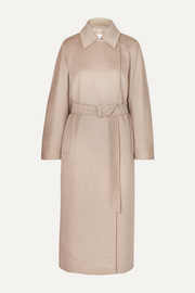 Jago belted cashmere and wool-blend coat