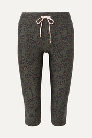 The Upside Army cropped leopard-print stretch leggings