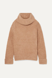 Merino wool-blend turtleneck sweater