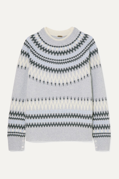 Fair Isle Knitted Sweater by Adam Lippes