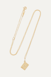 Smallest Love Letter 14-karat gold necklace