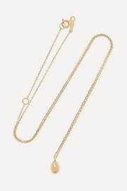 Catbird Swan Egg 14-karat gold necklace