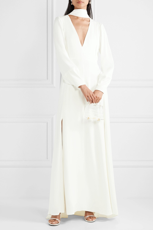 Vanessa Cocchiaro The Ada smocked satin gown