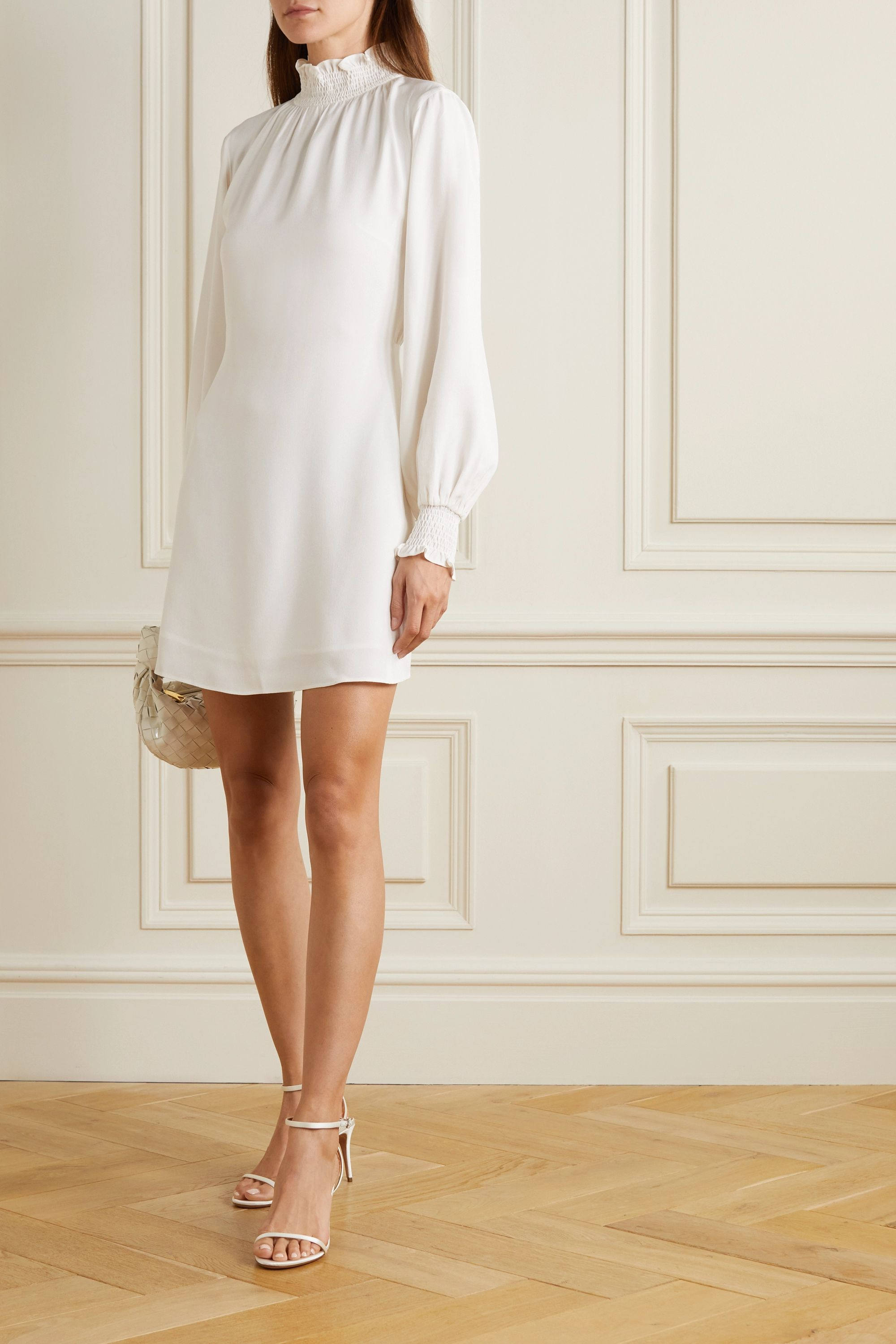 Vanessa Cocchiaro The C.J. shirred crepe mini dress