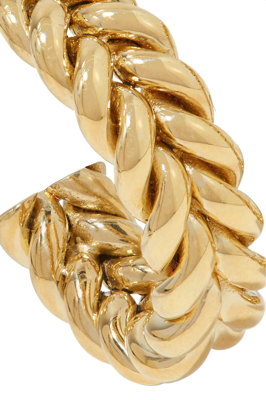 Laura Lombardi + NET SUSTAIN Grana gold-tone hoop earrings