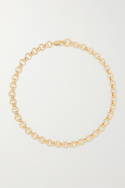 + NET SUSTAIN Franca gold-plated necklace