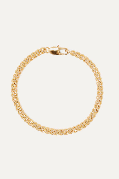 Curb Gold Plated Bracelet by Laura Lombardi