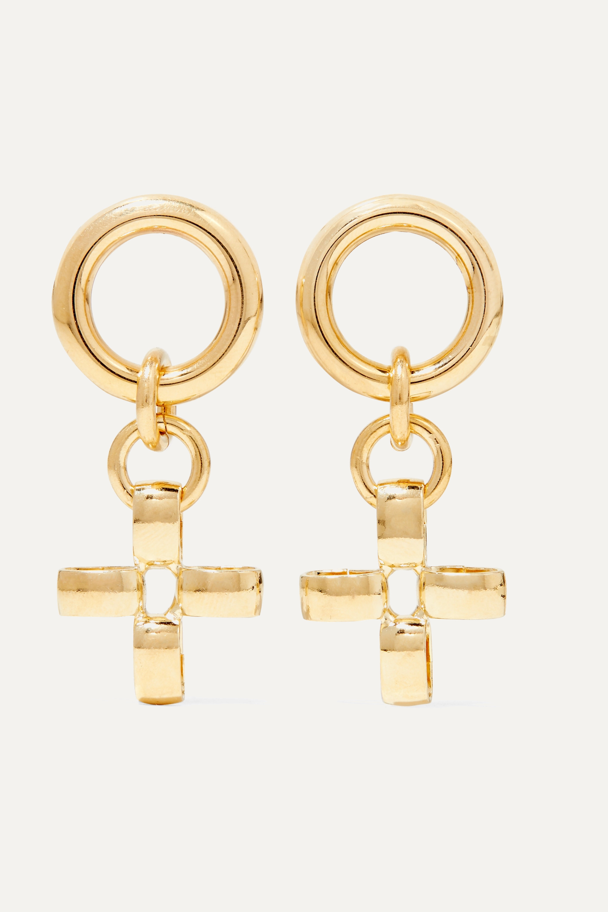 Laura Lombardi + NET SUSTAIN Fiore gold-tone earrings