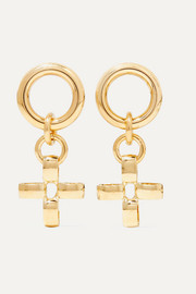 + NET SUSTAIN Fiore gold-tone earrings