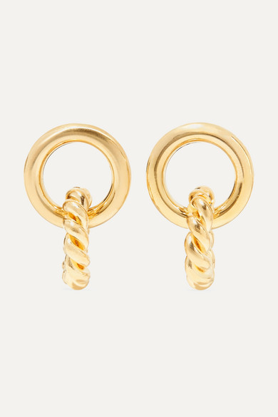 Duo Gold Tone Earrings by Laura Lombardi