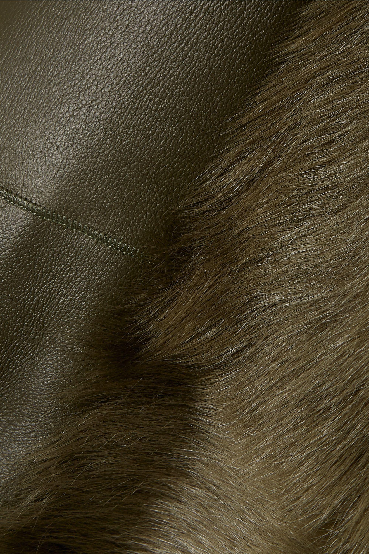 Theory Manteau en peau lainée