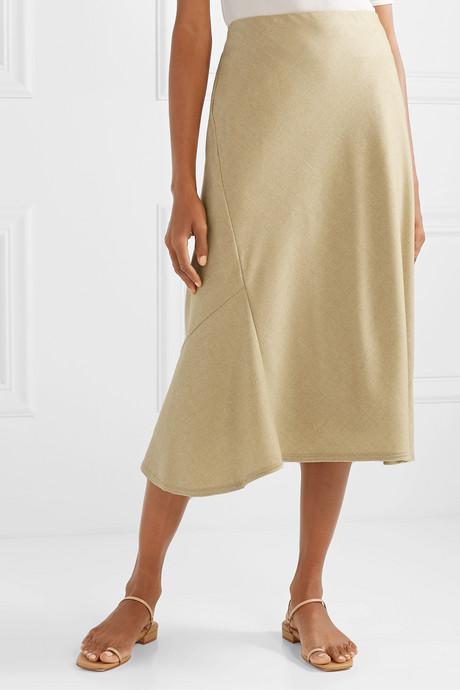Wool midi skirt