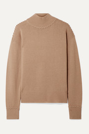 Theory Whipstitched cashmere turtleneck sweater