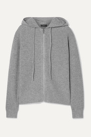 Theory Ribbed cashmere hoodie
