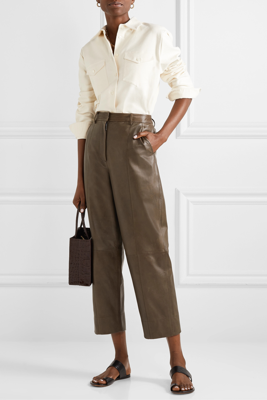 Theory Cotton-blend twill shirt