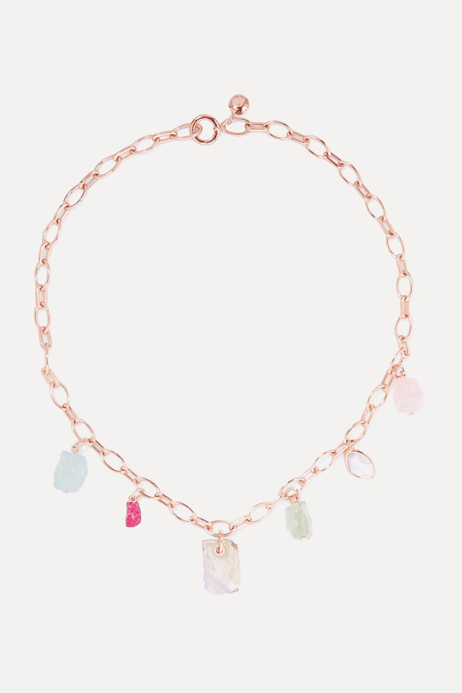 Monica Vinader Collier en vermeil rose et pierres multiples x Caroline Issa