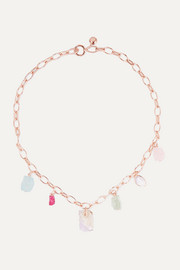 Monica Vinader + Caroline Issa rose gold vermeil multi-stone necklace