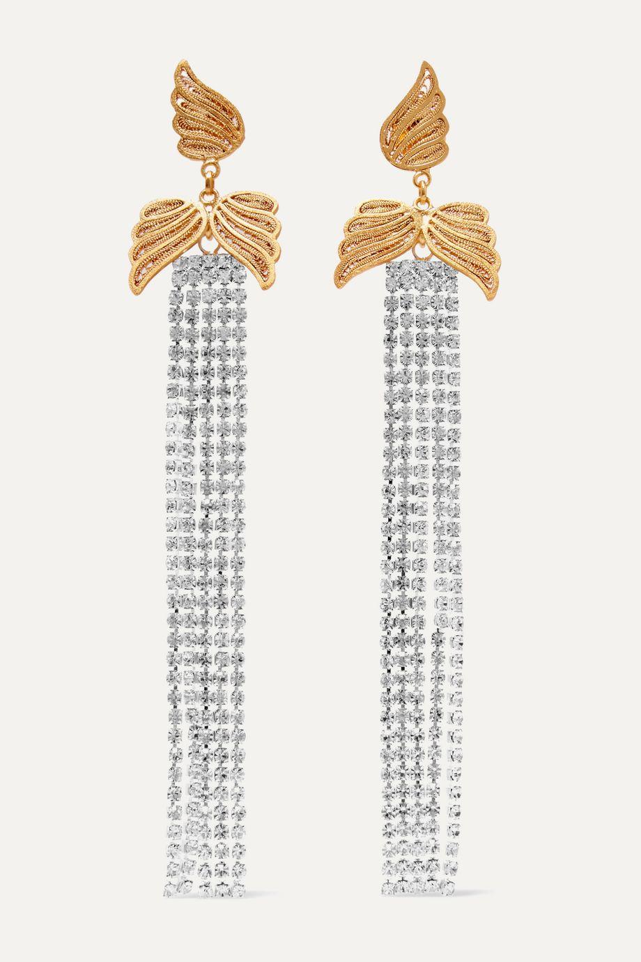 Mallarino Eloise gold-tone crystal earrings