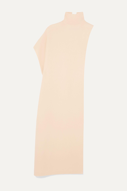 Jil Sander Asymmetric wool-fleece turtleneck cape