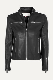 The Mighty Company The Lucca two-tone leather jacket