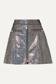 The Mighty Company The Ripon metallic coated suede mini skirt