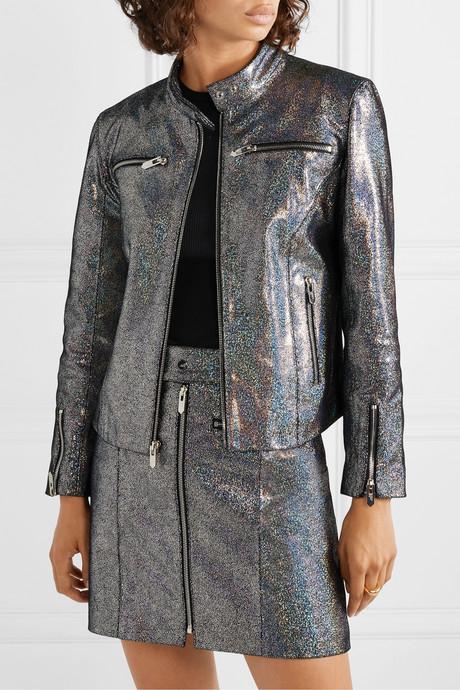 The Ripon metallic coated suede jacket