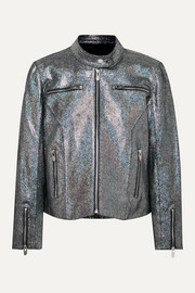 The Mighty Company The Ripon metallic coated suede jacket