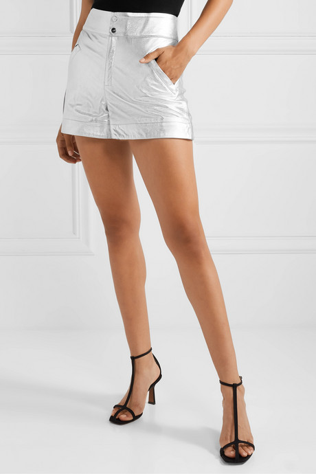 The Coventry metallic leather shorts