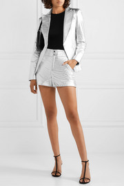 The Mighty Company The Coventry metallic leather shorts