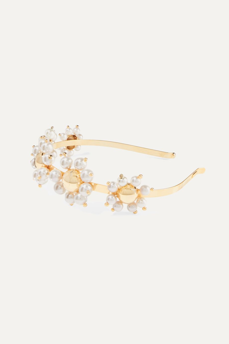 Rosantica Daisy 金色人造珍珠发箍
