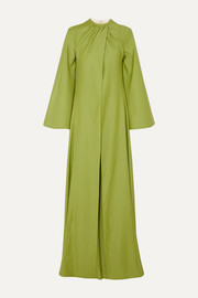 Enid cape-effect draped wool-gabardine jumpsuit