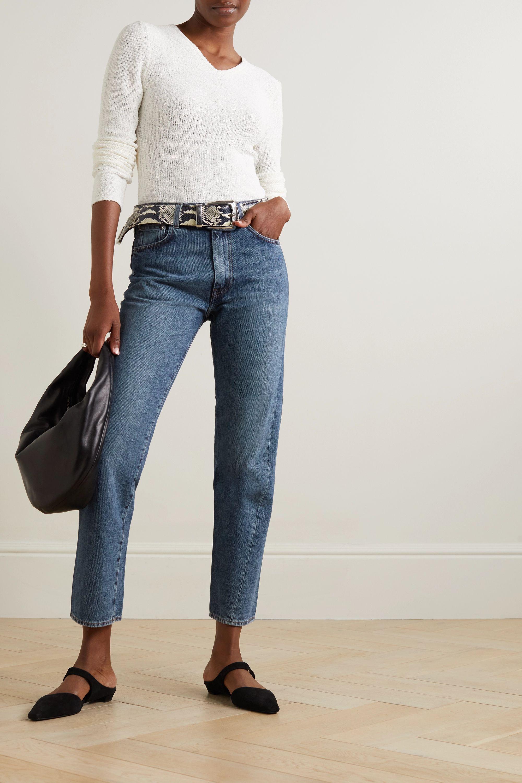Totême Cropped high-rise straight-leg jeans