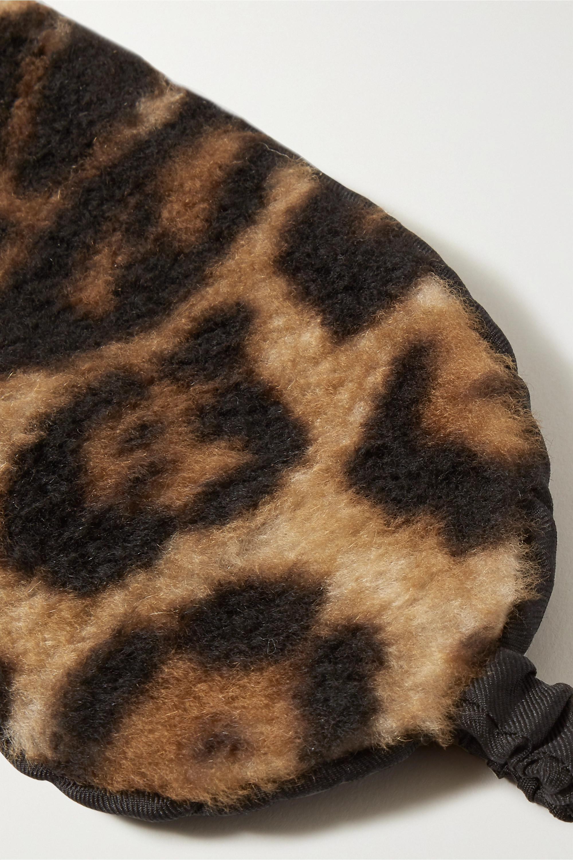 Yves Salomon Leopard-print shearling eye mask