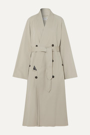 Balenciaga Judo oversized cotton-twill trench coat