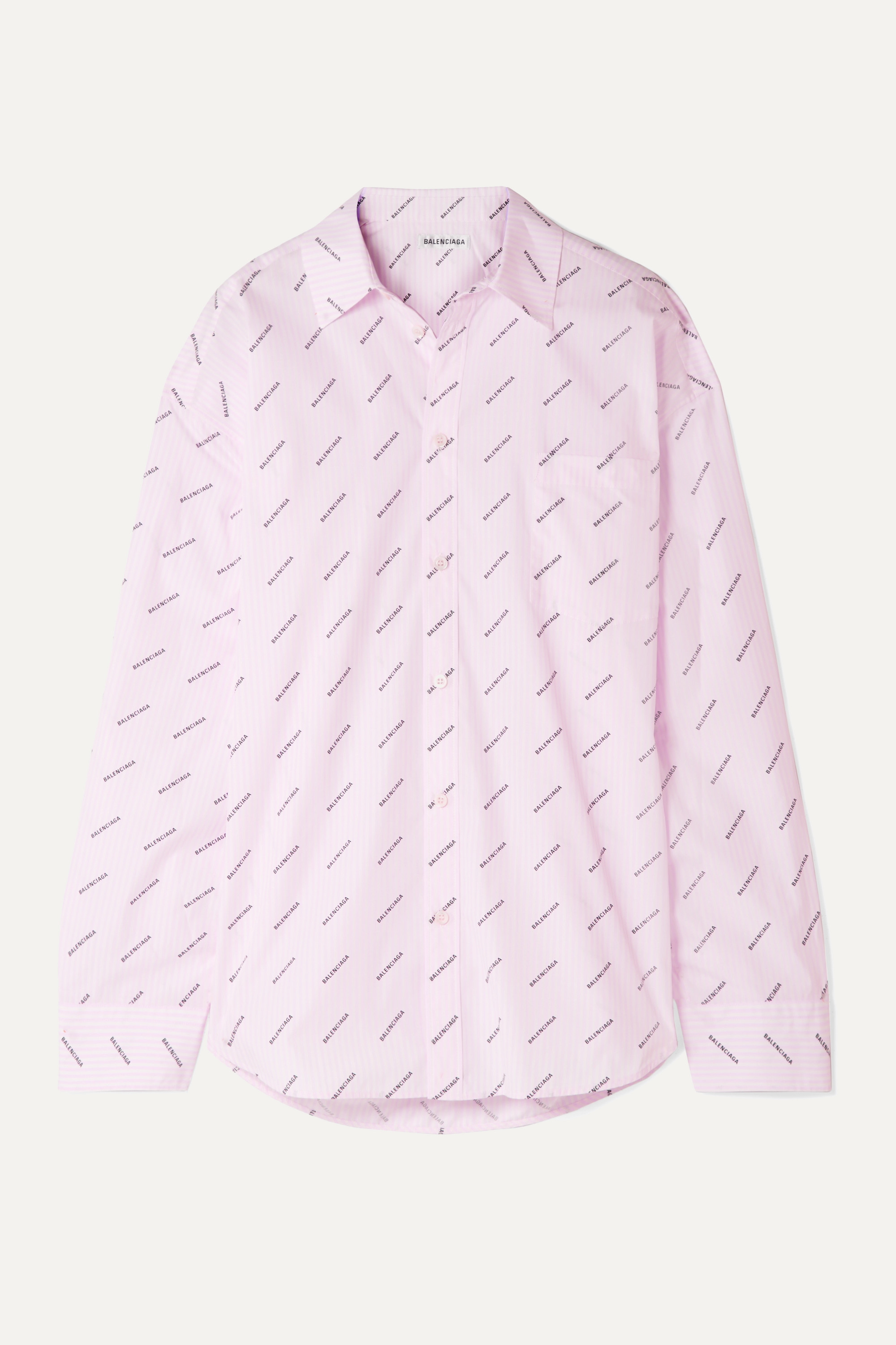 Pastel pink Oversized striped printed