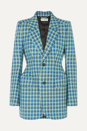 Balenciaga Hourglass checked wool blazer